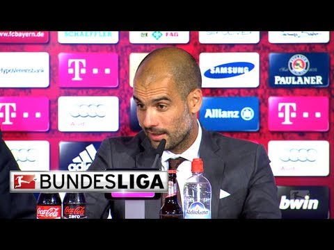 Pep Guardiola, Franck Ribery and Arjen Robben - Post Match Interview
