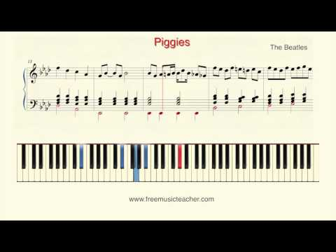 "How To Play Piano: The Beatles ""Piggies"" Piano Tutorial by Ramin Yousefi"