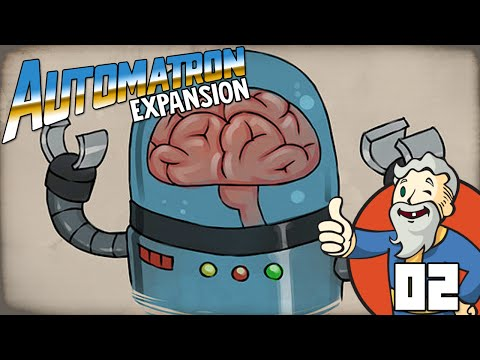"""TALKING ROBOT BRAIN!!!"" MODDED Fallout 4 Automatron DLC Ep 02"