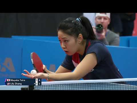 2019 Seamaster US Open TT Championships - Women's Singles Final - L. Zhang Vs M. Taira (highlights)