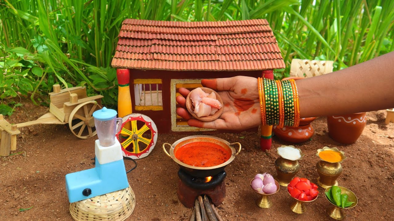 Miniature Chettinad Chicken Masala + Rice | Chettinad Chicken Recipe | Mini Foodkey