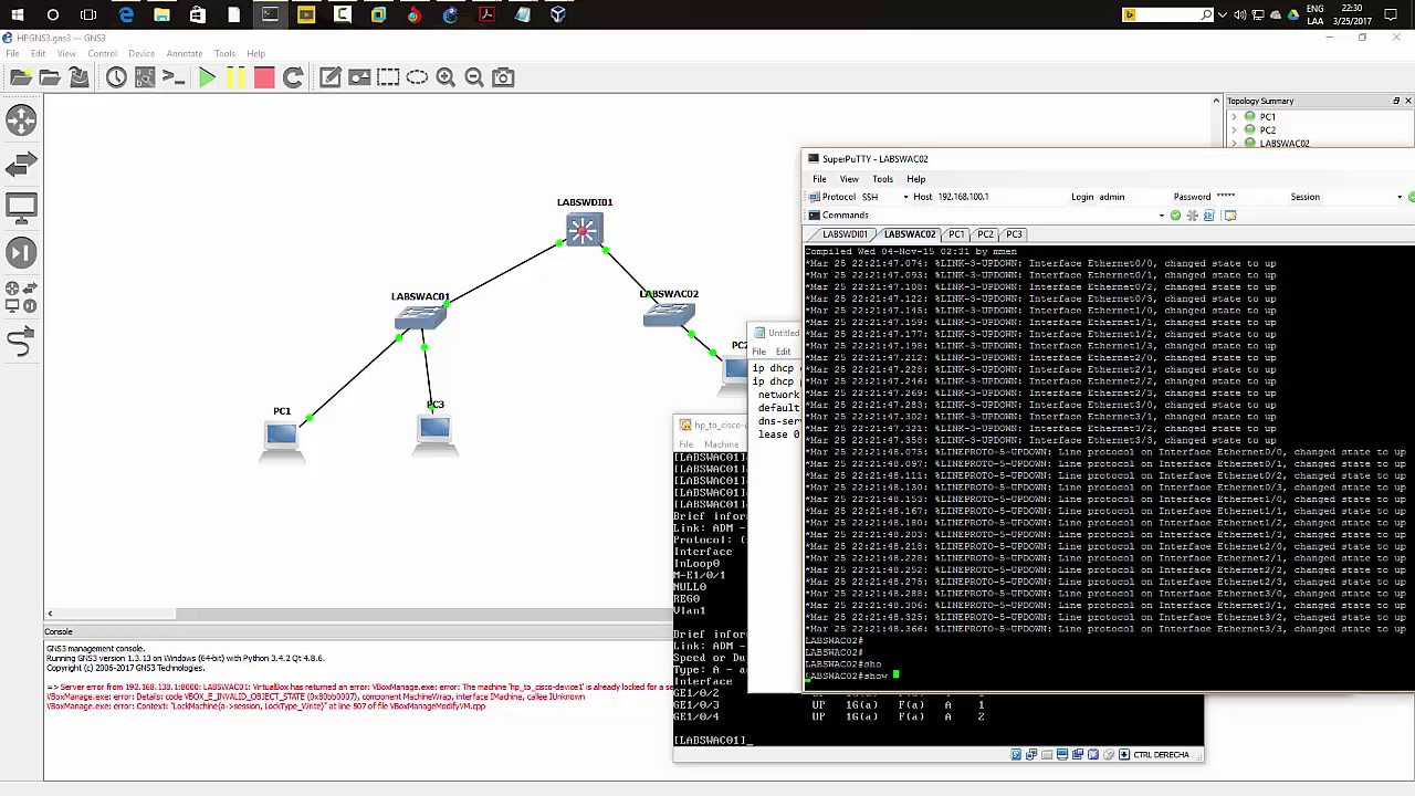 HP Network Simulator and GNS3 [HP Switching and Cisco Switching] 2/2