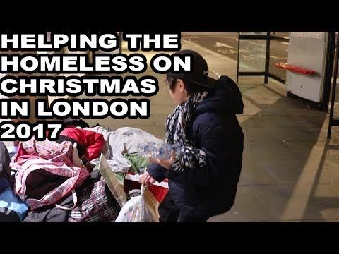 FEEDING HOMELESS PEOPLE ON CHRISTMAS IN LONDON 2017