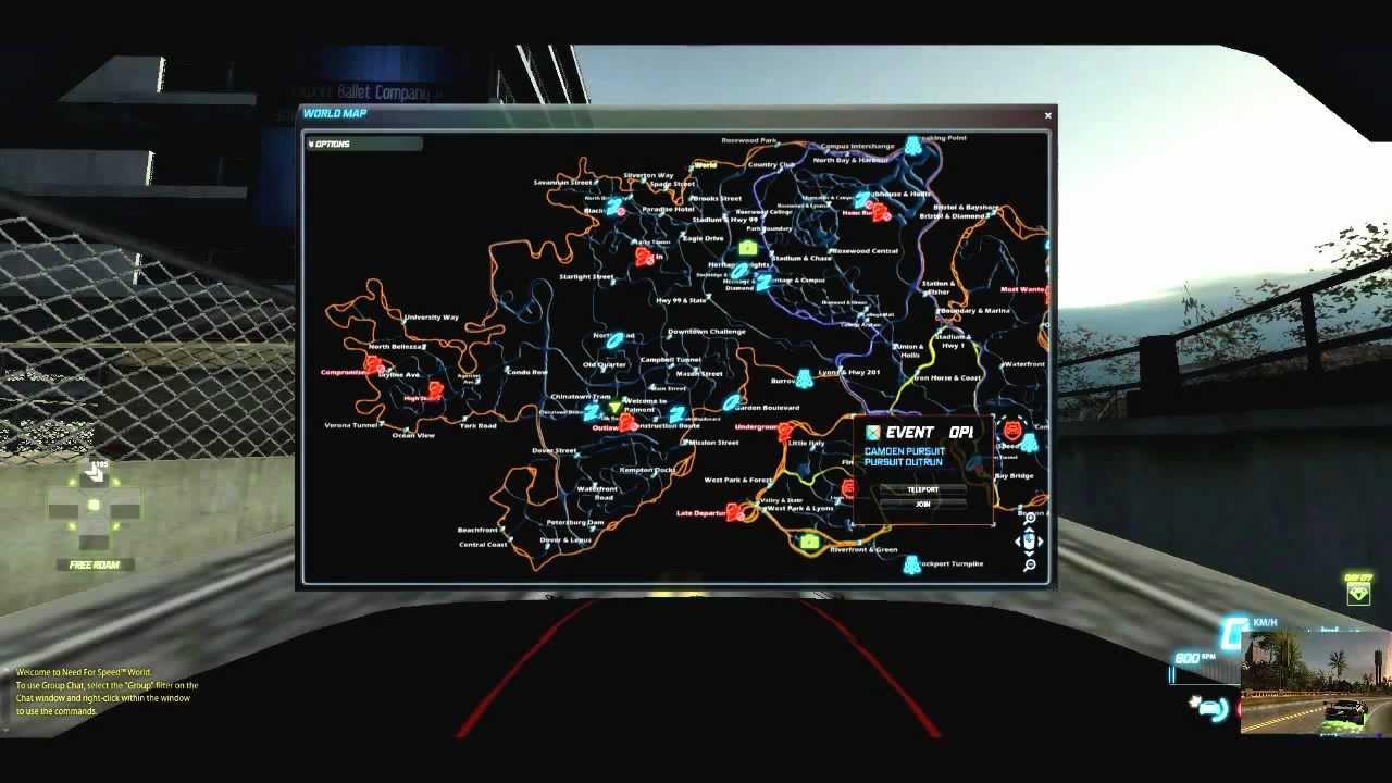 Need For Speed World Custom Map Youtube