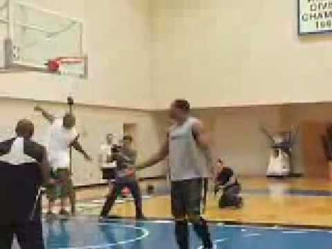 Dwight Howard Making Massive SuperMan Dunk