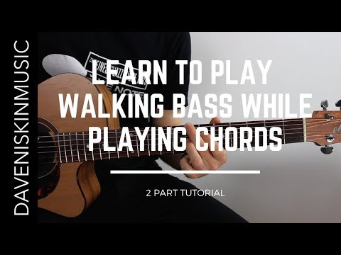 learn-walking-bass-on-guitar-while-playing-chords---jazz-guitar-lesson-(part-1)