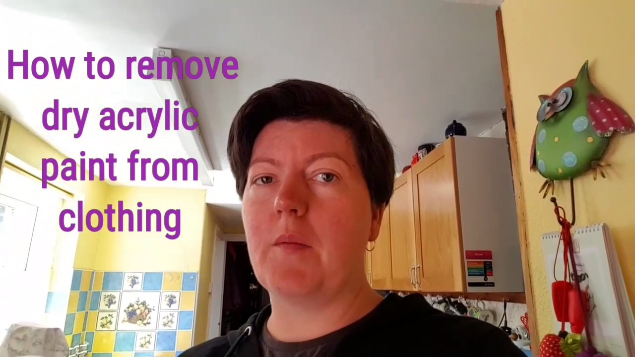 how to remove dry acrylic paint from clothing youtube