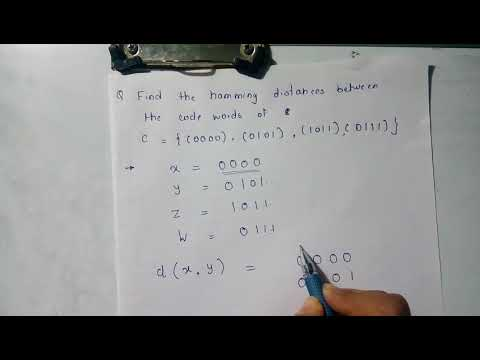 6th Unit - Question on Hamming Distance (6)