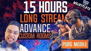 🔴 [LIVE] PUBG MOBILE | CUSTOM ROOMS & UC GIVEAWAYS (15 HOURS STREAM)