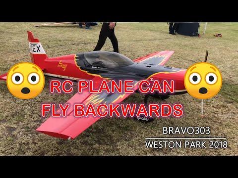 **INSANE** RC PLANE FLYING BACKWARDS 4D Delro Raven - Weston Park 2018
