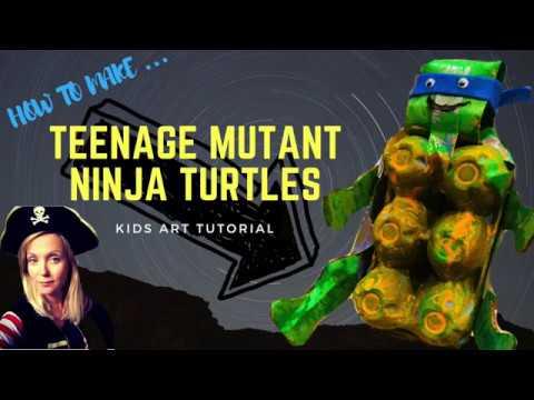 How to make TEENAGE MUTANT NINJA TURTLES // Kids art tutorial 2018