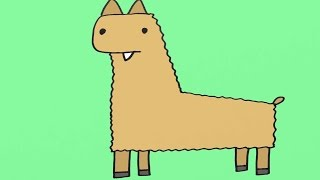How to Draw a Llama Cartoon Step-By-Step Drawing for Kids