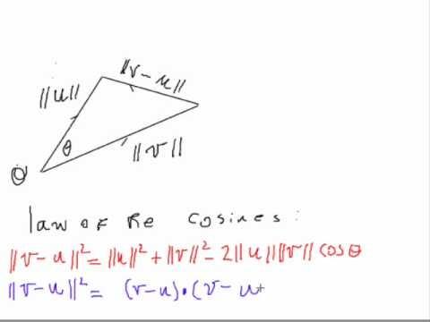 Cosine angle between two vectors.wmv - YouTube