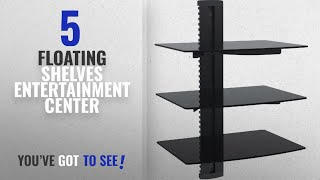 Top 10 Floating Shelves Entertainment Center [2018 ]: WALI Floating Shelf with Strengthened Tempered