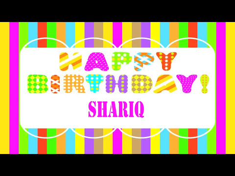 Shariq   Wishes & Mensajes - Happy Birthday