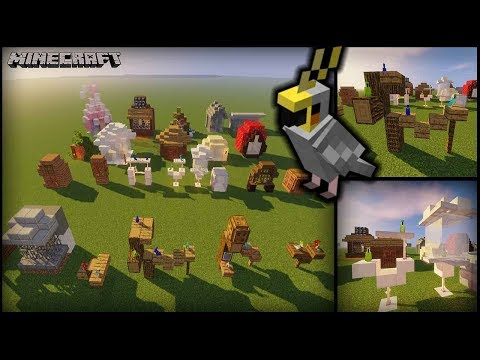 Minecraft – 25 Parrot House Designs! (Aviaries/Cages/Stands)