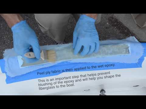 Optimist Dinghy Sailboat - Fast and Easy Fiberglass Repair