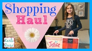 JUSTICE & ABERCROMBIE SHOPPING HAUL