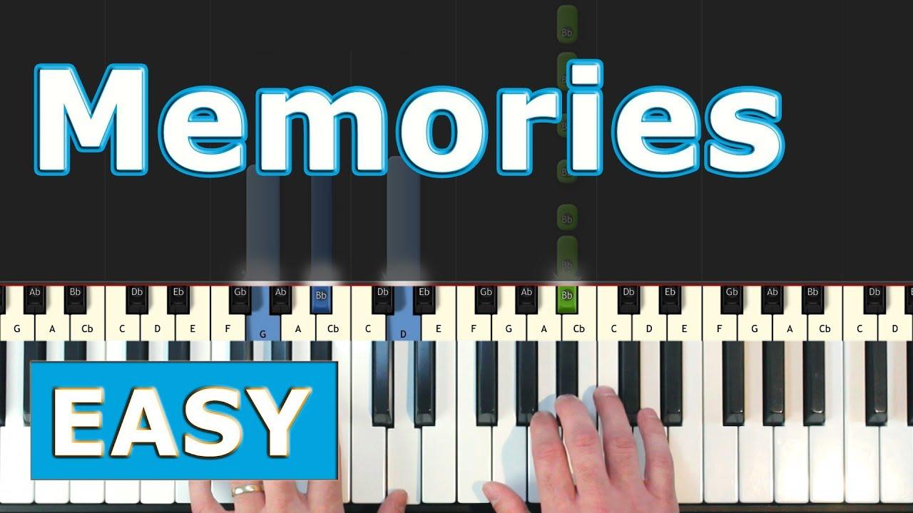 Maroon 5 Memories Easy Piano Tutorial Sheet Music Youtube