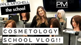 COSMETOLOGY SCHOOL VLOG AT PAUL MITCHELL 2018!! | Kellie Rae