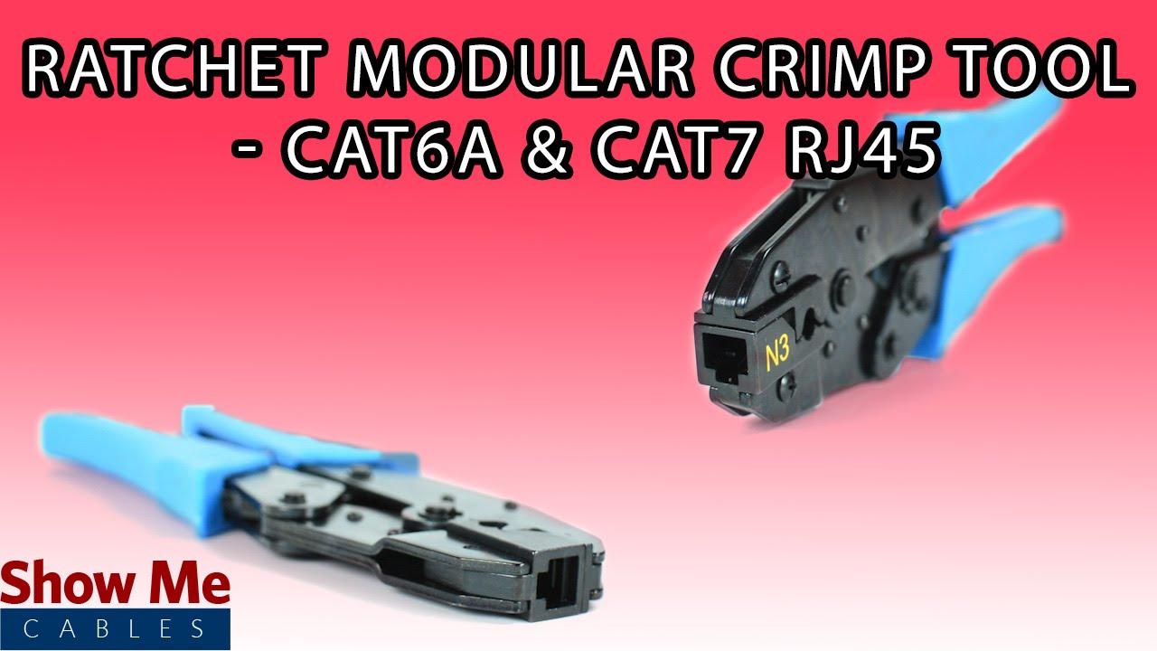 modular crimp tool for cat6a cat7 speed up your data. Black Bedroom Furniture Sets. Home Design Ideas