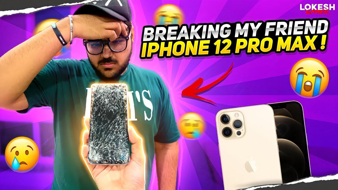 Gifting My Friend Oppo Phone And Breaking His iPhone 12 Pro Max 😨😨😨