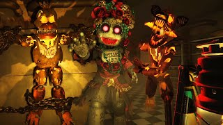 TRAPPED OVERNIGHT IN A NEW FNAF LOCATION FULL OF HALLOWEEN ANIMATRONICS. - The Glitched Attraction