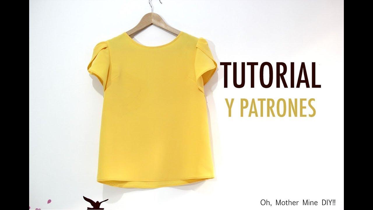 8c55508c66 DIY Costura Blusa manga amapola para mujer (patrones gratis) - YouTube