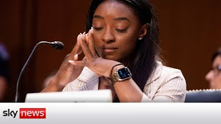 Simone Biles breaks down, blaming the 'entire system that enabled Larry Nassar's sex abuse'