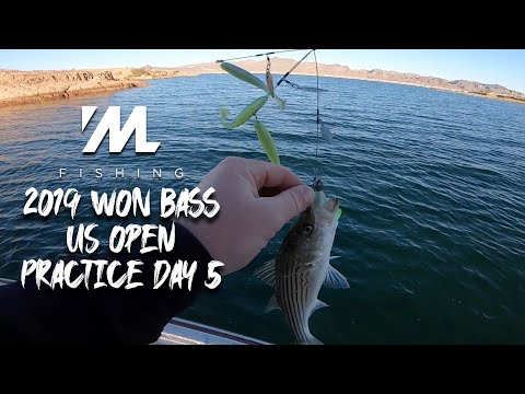 2019 WON Bass US Open Practice Day 5 - Bass Fishing Lake Mead Nevada