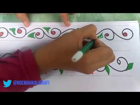 Cara Membuat Hiasan Kaligrafi Untuk Anak Anak Youtube