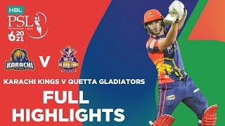 Full Highlights Karachi Kings Vs Quetta Gladiators Match 1 HBL PSL 6 MG2T