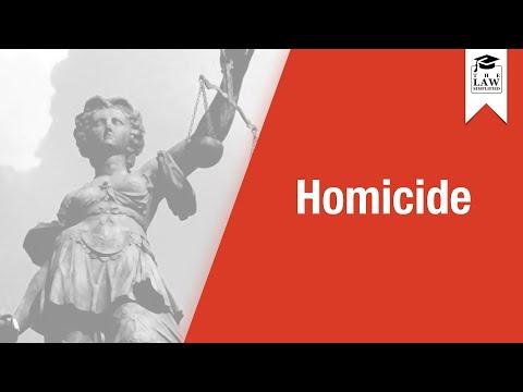 Criminal Law - Homicide