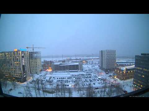 First snow in Tallinn timelapse 25-26 october 2017