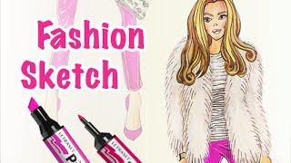 5 Выпуск: Fashion Sketching/Фешн Скетчинг Иллюстрация|девушки мода иллюстрации