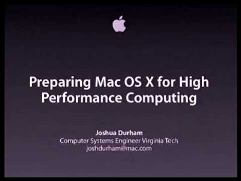 WWDC 2004 Session 642 - HPC Software Performance Optimization In Depth