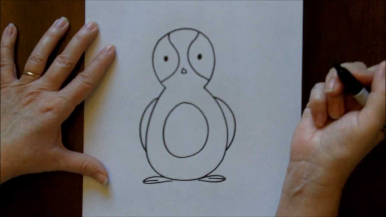 Penguin Drawings For Kids How to Draw a Cartoon Penguin