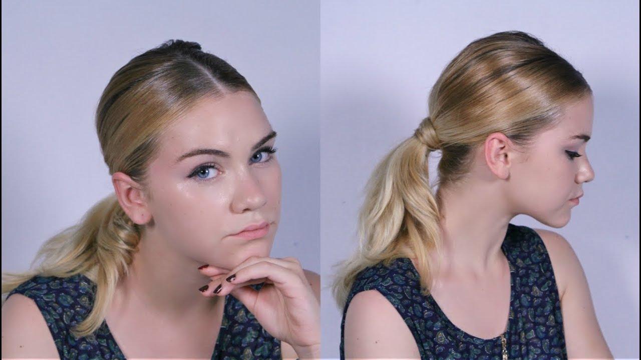 """Fácil peinados coleta baja Fotos de estilo de color de pelo - PEINADO: Coleta baja con volumen """" look inspirado en KIM ..."""
