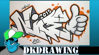 How to draw graffiti letters nice step by step