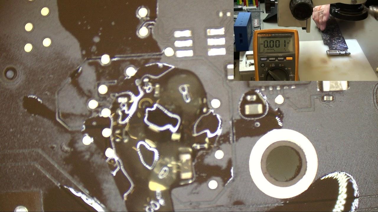 MacBook Air 13 2015 820 00165 Water Damage No Power Danneggiamento Da  Liquido e Logica in Corto