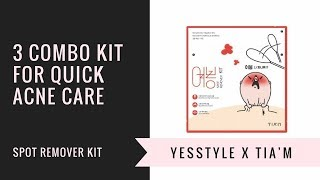 3 Combo Kit for Quick Acne Care | TIA'M Spot Remover Kit | YesStyle Korean Beauty