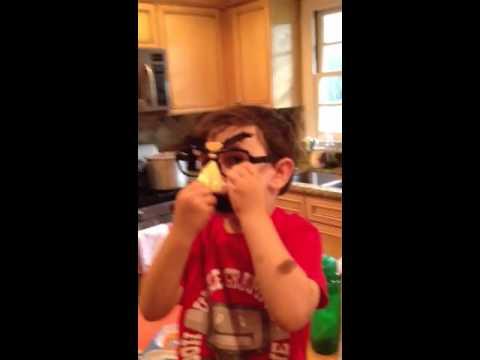 Groucho glasses on Henry