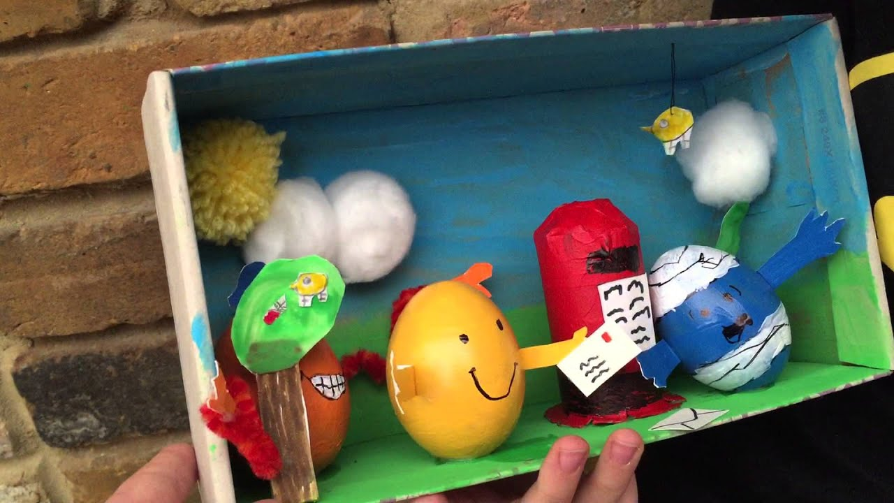 Egg Decorating Ideas Mr Men Diorama Youtube