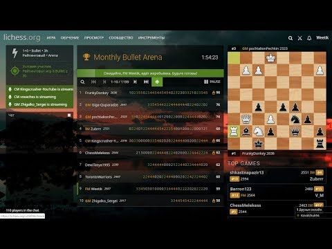 [RU] Monthly Bullet Arena на Lichess.org