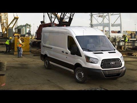 Работа пневмоподвески на Ford Transit (Форд Транзит) 2016
