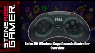 Retro-Bit Wireless Sega Genesis Controller Overview