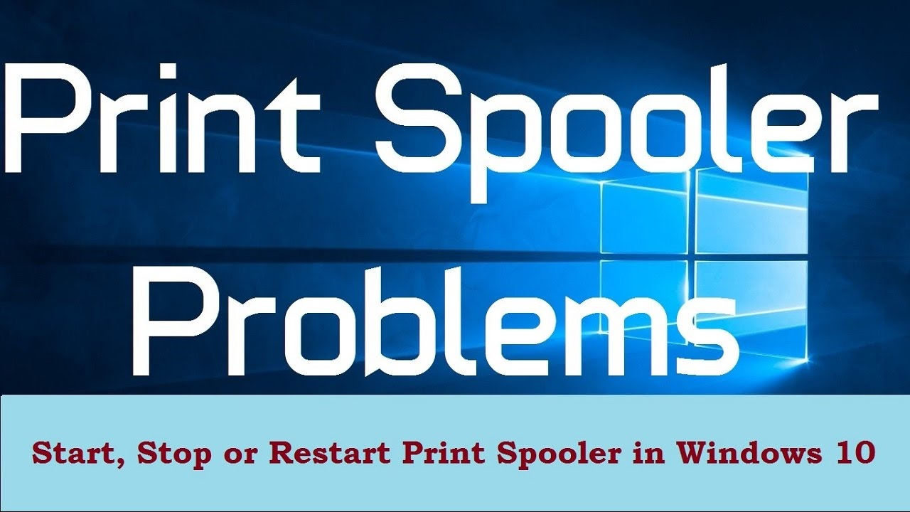 How to Start, Stop or Restart Print Spooler in Windows 10