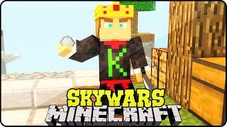Minecraft: SkyWars c/ LuckyBlock #2 - QUEBREI MINHA CASA DE RAIVA?