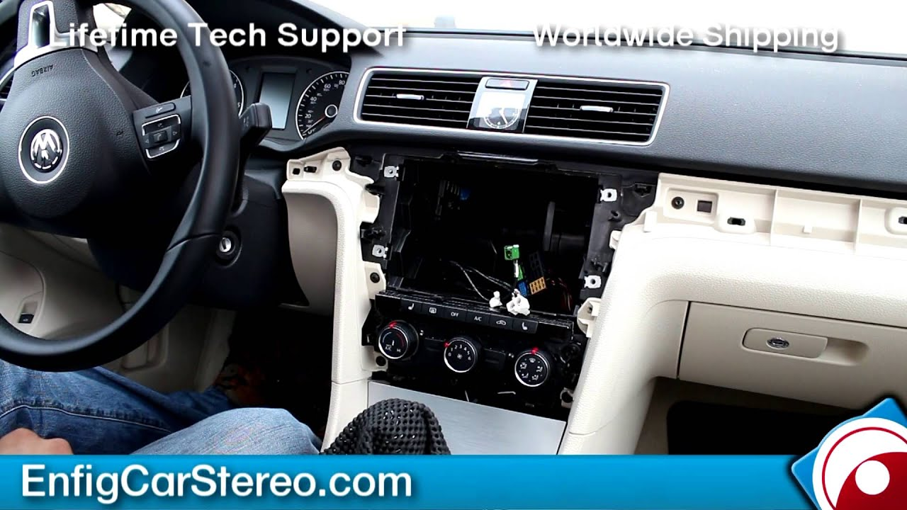 maxresdefault radio installation volkswagen passat 2012 2013 youtube Generator Wiring Diagram at crackthecode.co