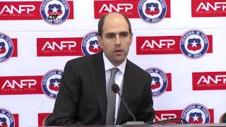 Conferencia de prensa de Sergio Jadue
